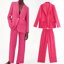 Withered 2021 England Style Fashion Solid Loose Casual Blazer Women Jackets Elastic Waist  Loose Har