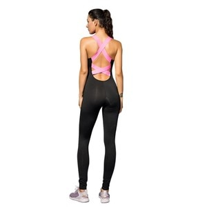 Fitness Sports Women's Jumpsuit Tight-fitting Sports Fitness Clothes Dance Clothes Quick-drying Sexy Backless Stretch Siamese