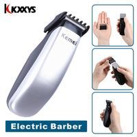 Kemei Electric Hair Clipper Mini Hair Trimmer Cutting Machine Beard Barber Razor Shaver For Men Style Tools KM-666