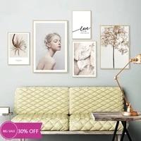 Toile de decoration de noel  affiches de fille  fleur plante  tableau dart mural pour salon  decoration de maison