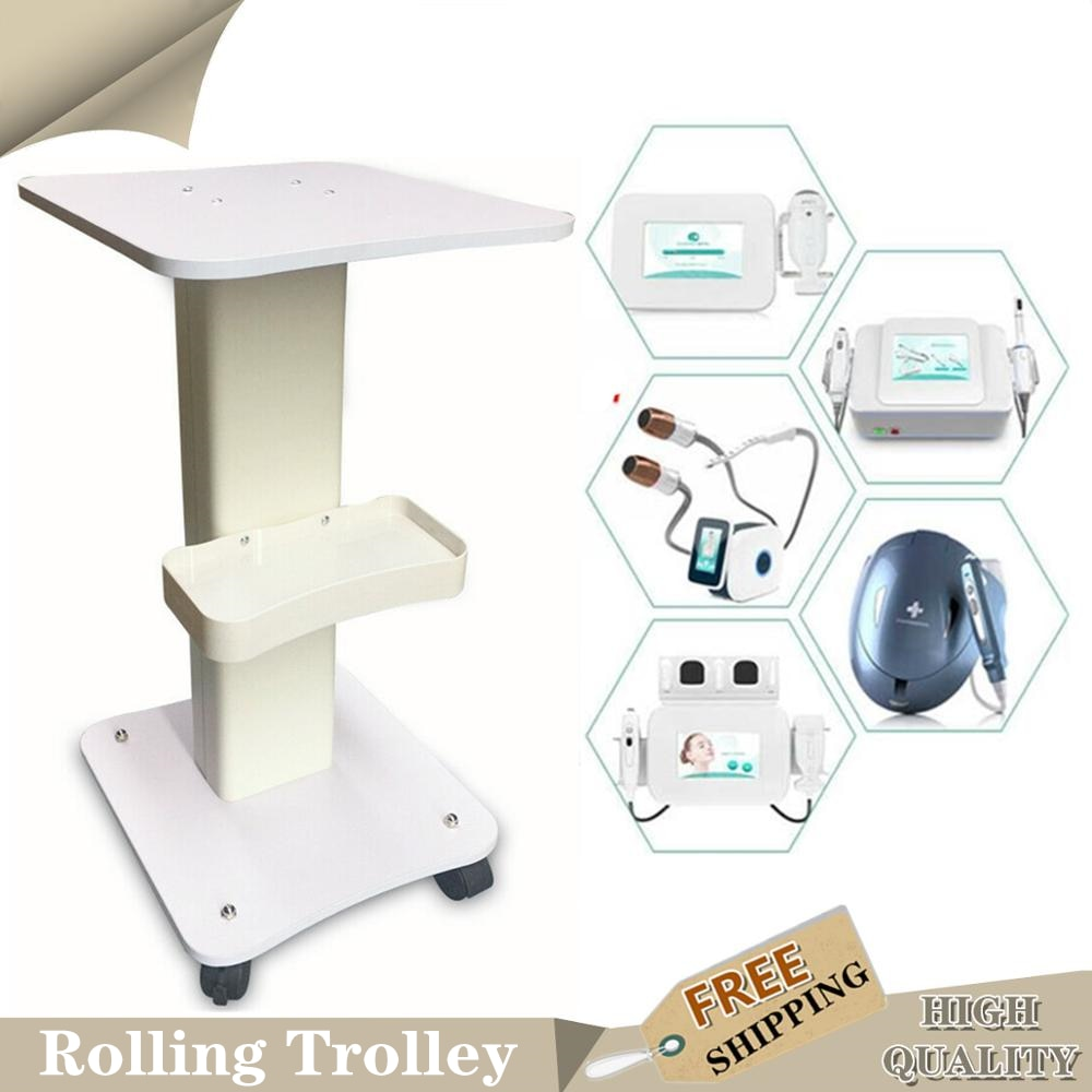 Aluminum Spa Rolling Salon Trolley ABS Beauty Hair Instrument Tray Cart Drawers Roller Salon Trolley Beauty Tool Dentist Medical