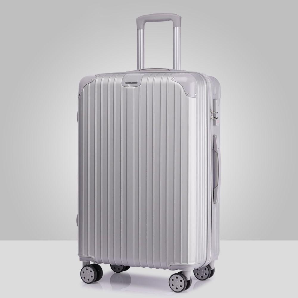 Free Shipping Size 36*22.5*54cm alloy Luggage Hardside Rolling Trolley Luggage