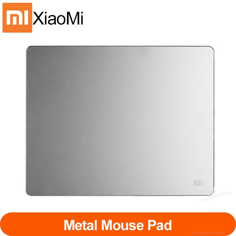 Alfombrilla de ratón de Metal Original Xiaomi, alfombrilla de ratón grande para juegos, de Metal puro alfombrilla de ratón, alfombrillas de ratón antideslizantes de aluminio delgadas de lujo para ordenador