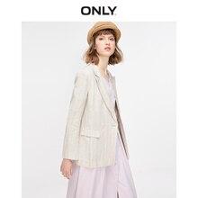 ONLY Women's Striped Linen Thin Blazer   119108542