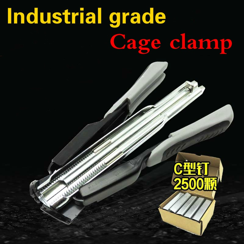 C-Type Clasp SR8 Animal wire Cages Tie cage clamp Cage installation pliers Clip Pliers repairing Chicken Rabbit Birds Quail Cage