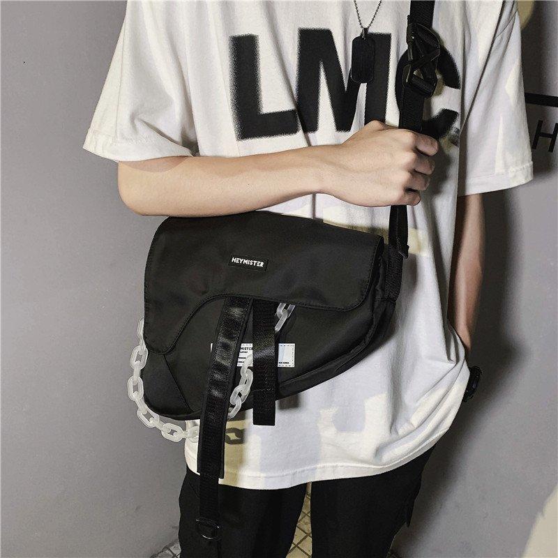 التكتيكية حقيبة كتف المرأة ريترو سلسلة الشارع نمط حقيبة ساعي مسدس تصميم بندقية السرج حقيبة للنساء