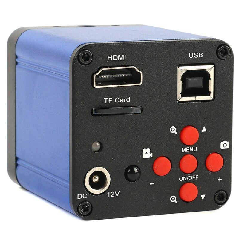 38MP 2K 1080P 60FPS صناعة كاميرا فيديو مجهر HDMI USB إخراج متزامن المكبر TF التخزين لإصلاح PCB رقاقة الهاتف