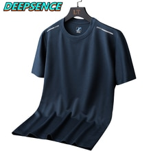 2021 Summer New Outdoor Ice Silk Short Sleeve t Shirt Men Solid Color Casual Sports Quick Drying Tri