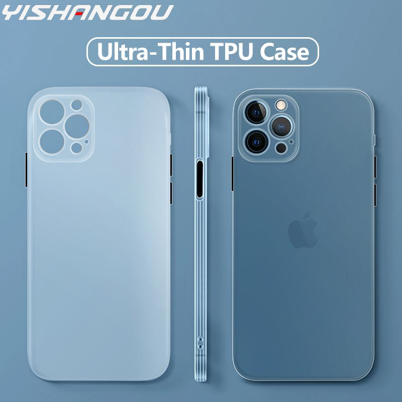 For iPhone 11 Pro Max iPhone 12 Pro Max XS X XR 8 7 Plus 12 mini Slim Matte Silicone Soft TPU Shockproof Bask Case Cover Funda