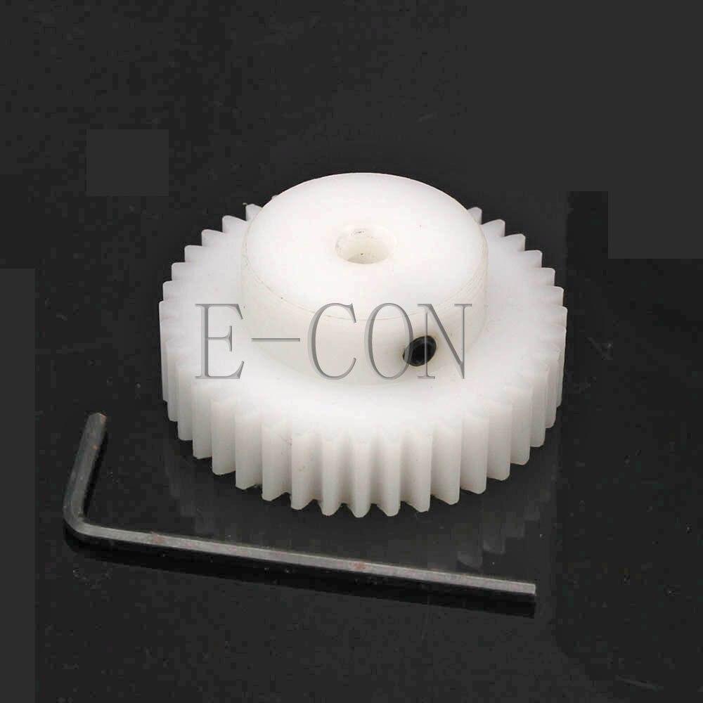 10PCS 1M41T Gear 4-14mm Bore Hole 41 Teeth 1 Module POM Gear Wheel with Top Screws