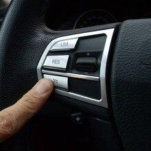 Chrome Car Styling przyciski na kierownicy ramka dekoracyjna pokrowiec na BMW serii 5/7 GT F10 f07 f01 akcesoria do wnętrz naklejki