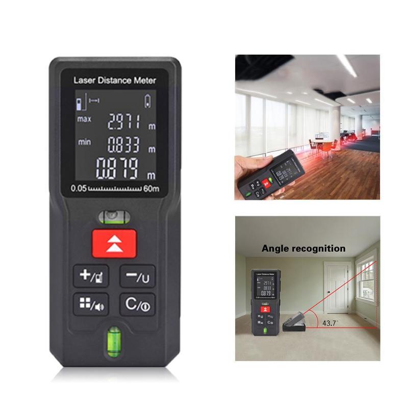 40/60/80/100m Laser Rangefinder Distance Meter Range Finder Electronic Tape Ruler Tester Battery-powered Measurer Device