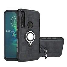 Funda blindada a prueba de golpes para Motorola E6 G8 Plus funda trasera Moto One Action Vision TPU + funda protectora armadura de silicona 2in1