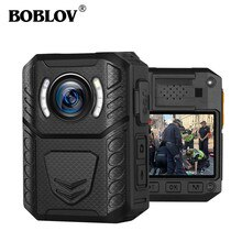 Boblov X3A Body Worn Camera HD 1296P DVR Video Security Cam IR Night Vision Wearable Mini Camcorders