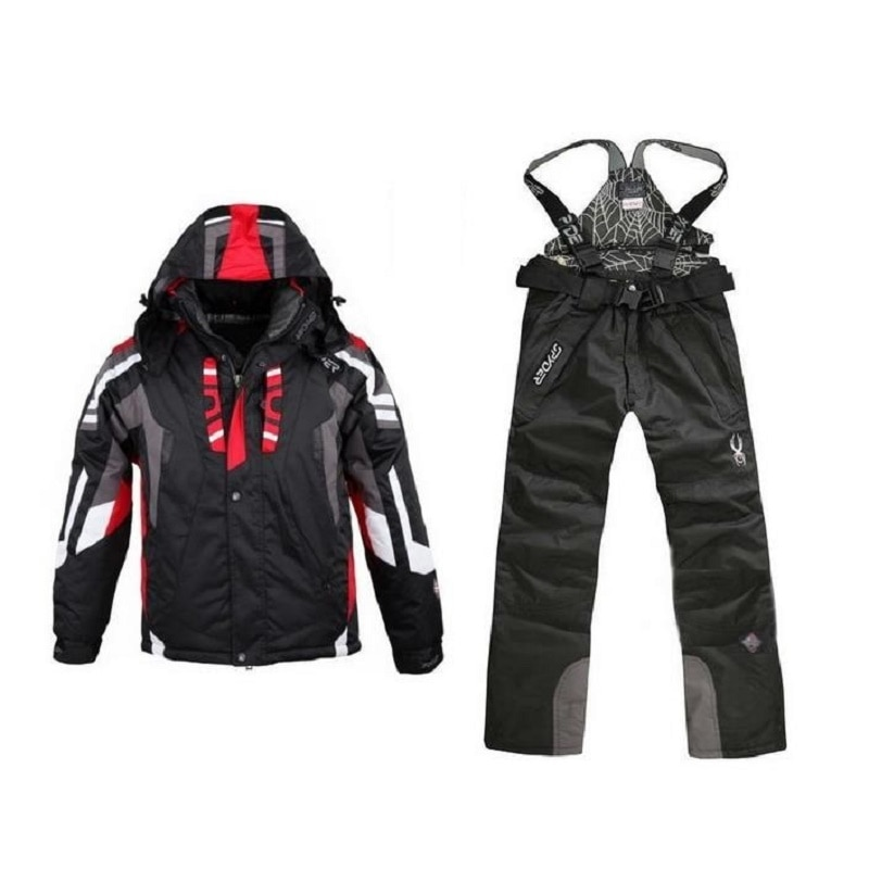 High-Quality Waterproof Ski Jacket Pants Ski Suit Sets For Men Winter Windproof Skiing Snowboard Warm Coat Ski Snowsuit Plus