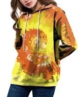 angry goldfish fashion fun gift pullover female sweatshirt handmade diy tie dye 3dprint women hoodies plus size clothes s 4xl
