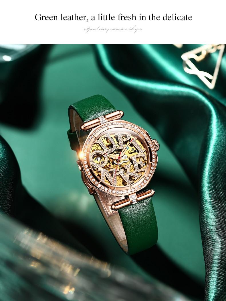 Women Automatic Mechanical Watches Gift Gold Ladies Luxury Waterproof Wrist Fashion Skeleton Tourbillon WristWatch enlarge