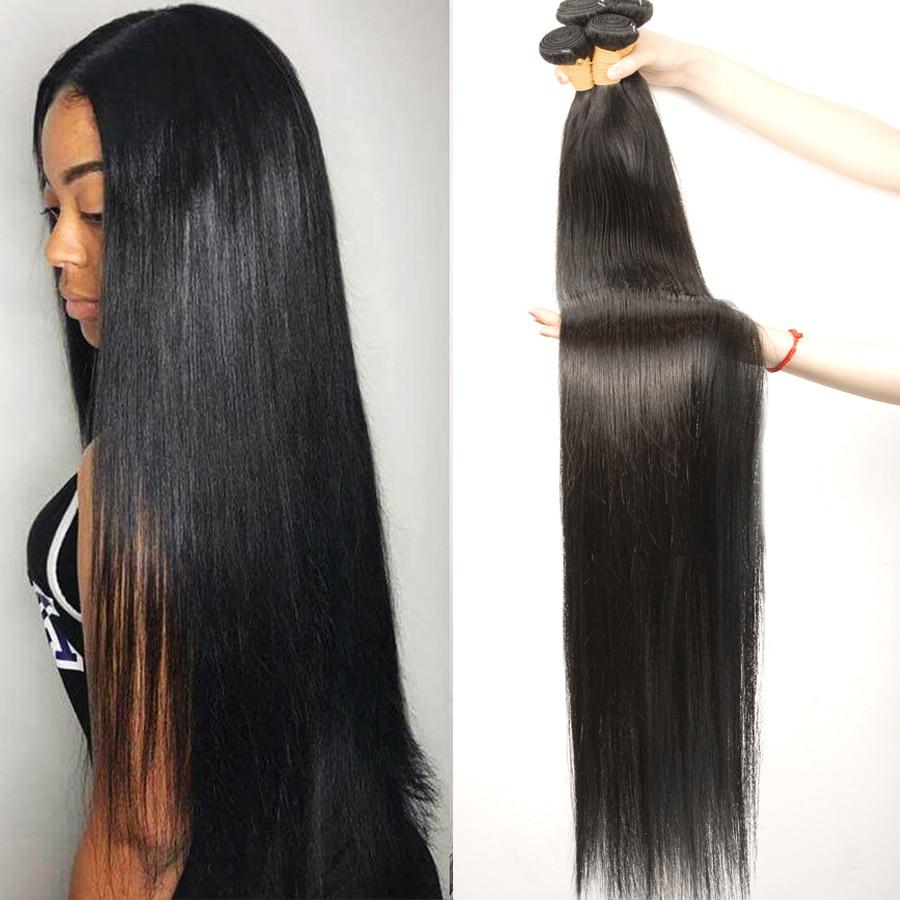 Brazilian Straight Hair Bundles 100% Natural Human Hair