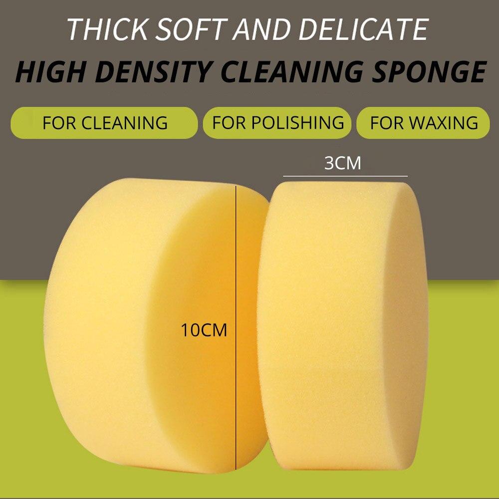 Купить с кэшбэком 2X Car Polishing Waxing High-density Sponge Washing Car Washing Pressure Edge Foam Auto Care Sponge Wax Polishes Paint Cleaner