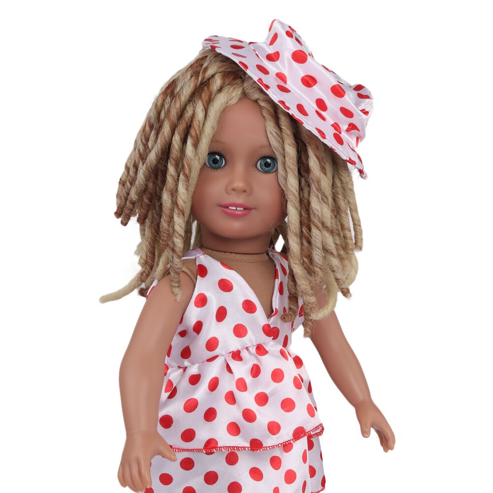 Aidolla 18inch American Doll Wig Long Curly Hair High Temperature Fiber Doll Accessories For Dolls DIY Girl Gift