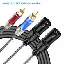 Dual XLR auf CINCH Kabel Stecker Audio Kabel Professional Audio Link Kabel Dual 5ft XLR Weiblichen/Männlichen zu RCA stecker Audio Kabel # BO