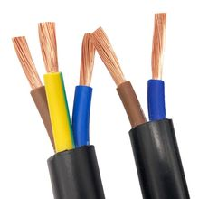 Fil électrique Standard 2 mètres   Couvercle noir, noyau de cuivre RVV câble Standard, fils électriques 2 Core 3 Core 1mm 1.5mm 2.5mm 4mm 6mm