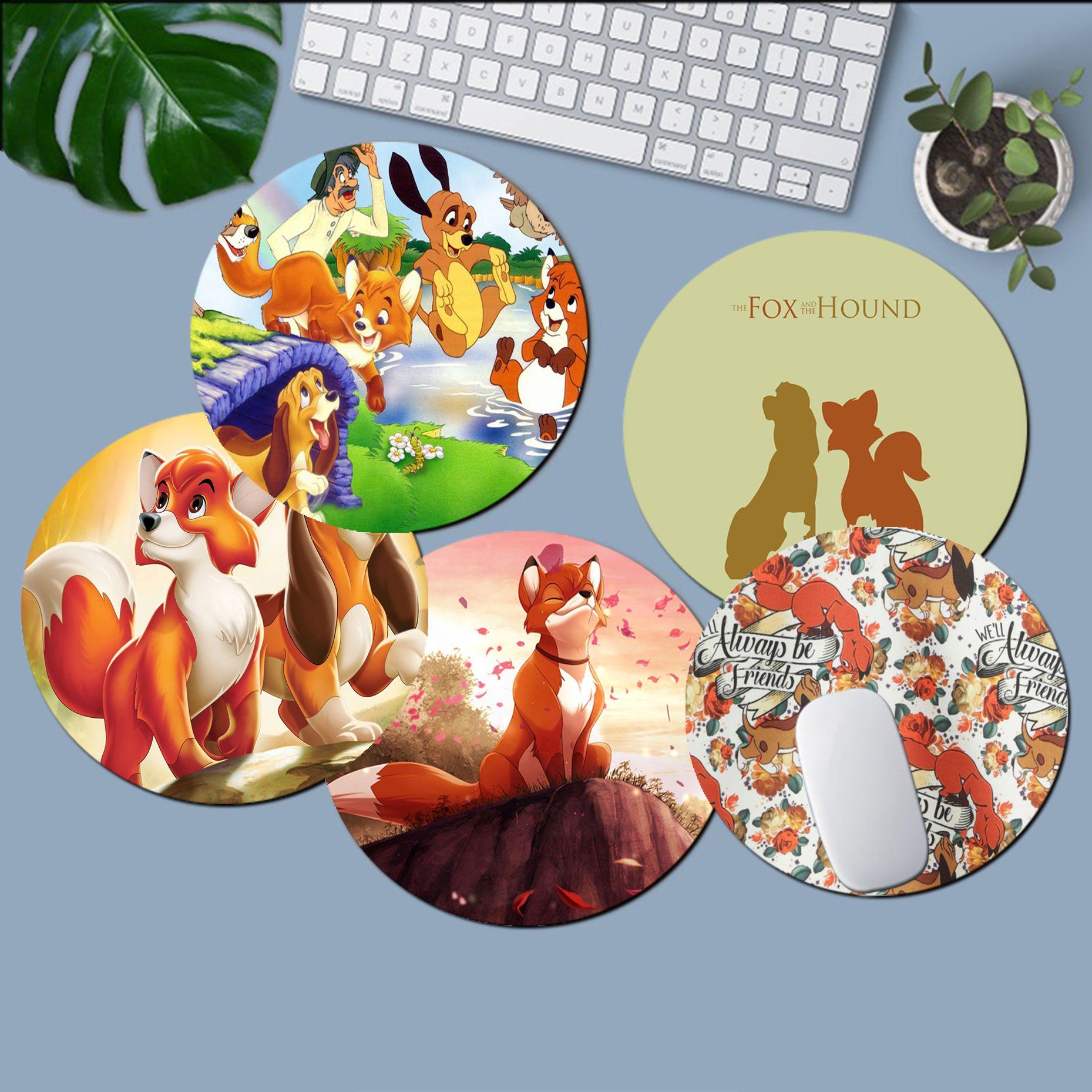 Уникальный Настольный коврик Disney «Лиса и собака», игровой коврик для мыши, компьютерный Настольный коврик для игр