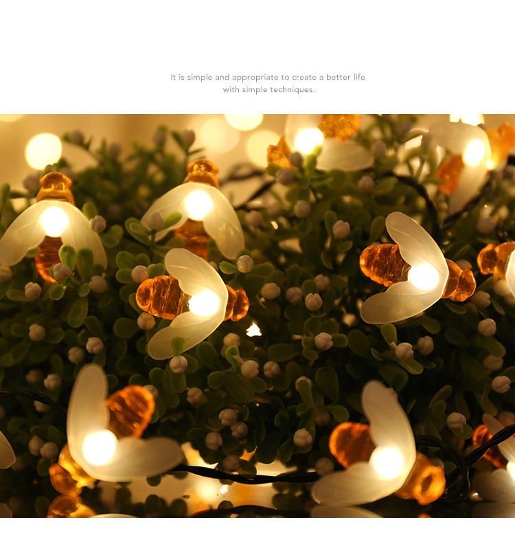 Tira de luces led para decoración de bodas, luces de navidad para...