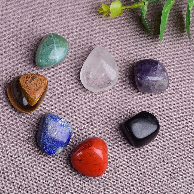 AliExpress - Natural Quartz  Seven Chakra Stone 7 Colors Set Yoga Chakra Lrregular Manual Polishing Reiki Healing Crystals Stone Stones Comfo