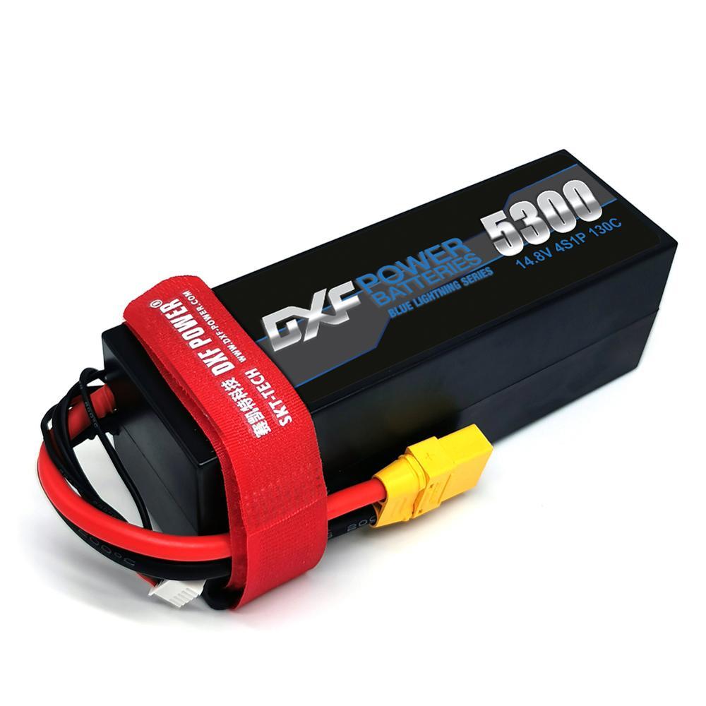 DXF 4S LiPo Battery 14.8V 5300mAh 130C-260C Hardcase XT60 for RC 1/10 Scale Trx Stampede Car enlarge