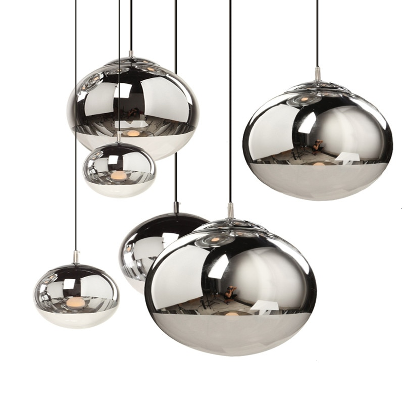 Lámpara electrochapada para Bar o restaurante, lámpara moderna con personalidad original, luminaria Art decó Suspendu