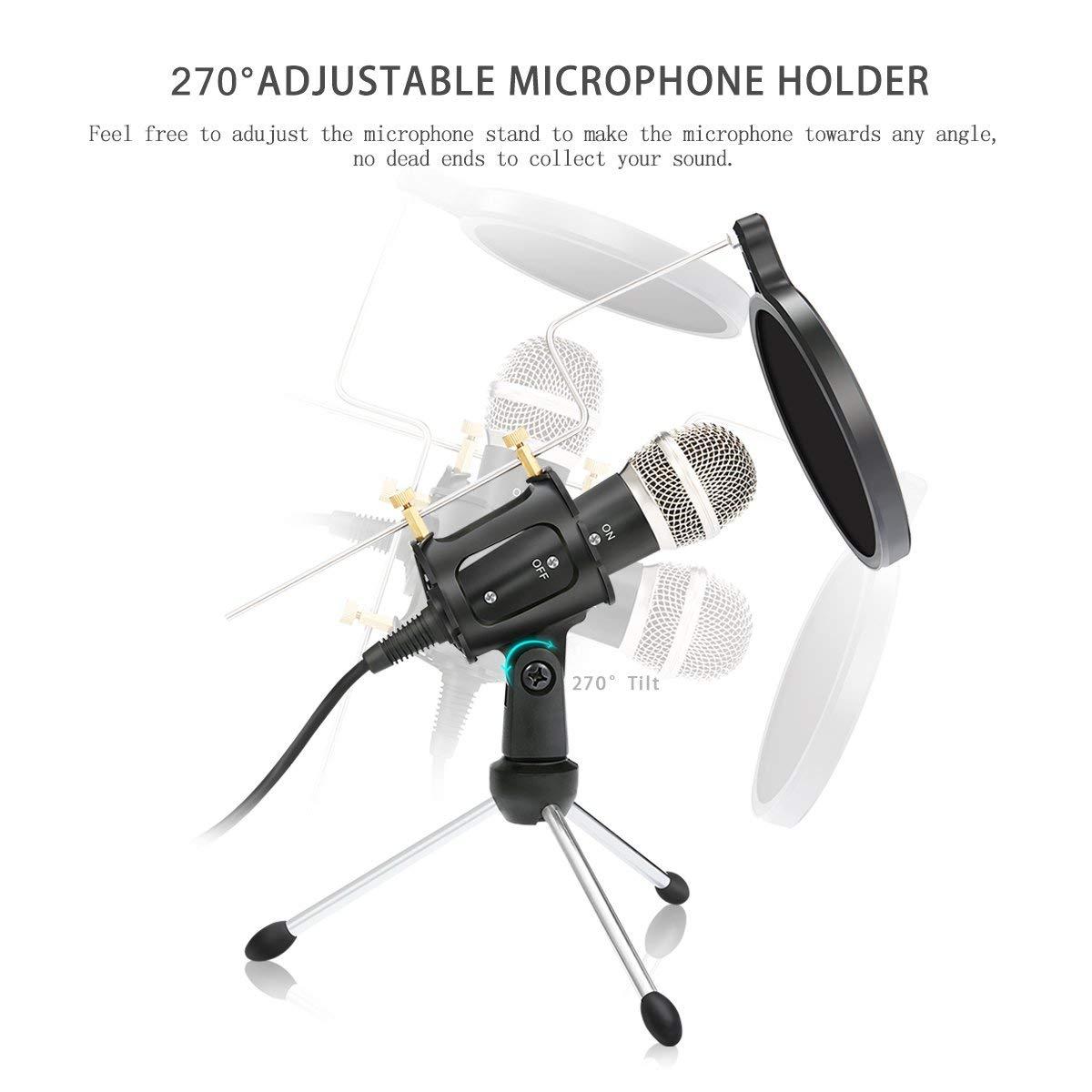 Micrófono inalámbrico para karaoke, condensador de audio de estudio, bm800