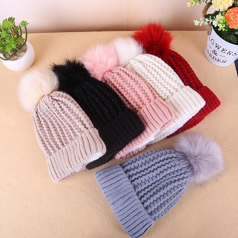 Bonnet en velours, nouveau chapeau, avec pompon, à la mode, épais, chaud, tête de Ski dextérieur, nouveau, pour enfants de 2 à 8 ans, Z137