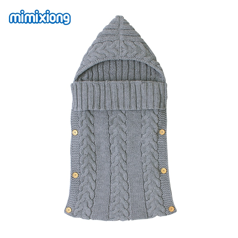 Sacos de dormir para bebés de invierno cálido suave de punto recién nacido Swaddle Wrap sacos de dormir para cochecito 0-6M niño infantil sobres Hospital