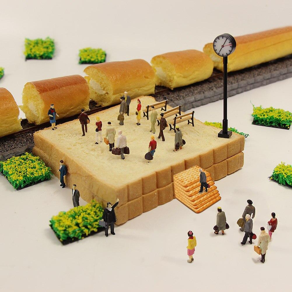 P8712 40 Uds todos Posición Vertical surtido HO escala modelo tren calle figura de la gente nuevo