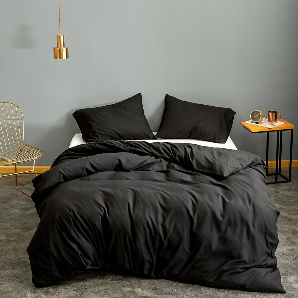 Bonenjoy 1 pc Duvet Cover Queen Size Black Color Bedclothes Comforter Cover King edredom Microfiber Quilt Cover (no pillowcase)