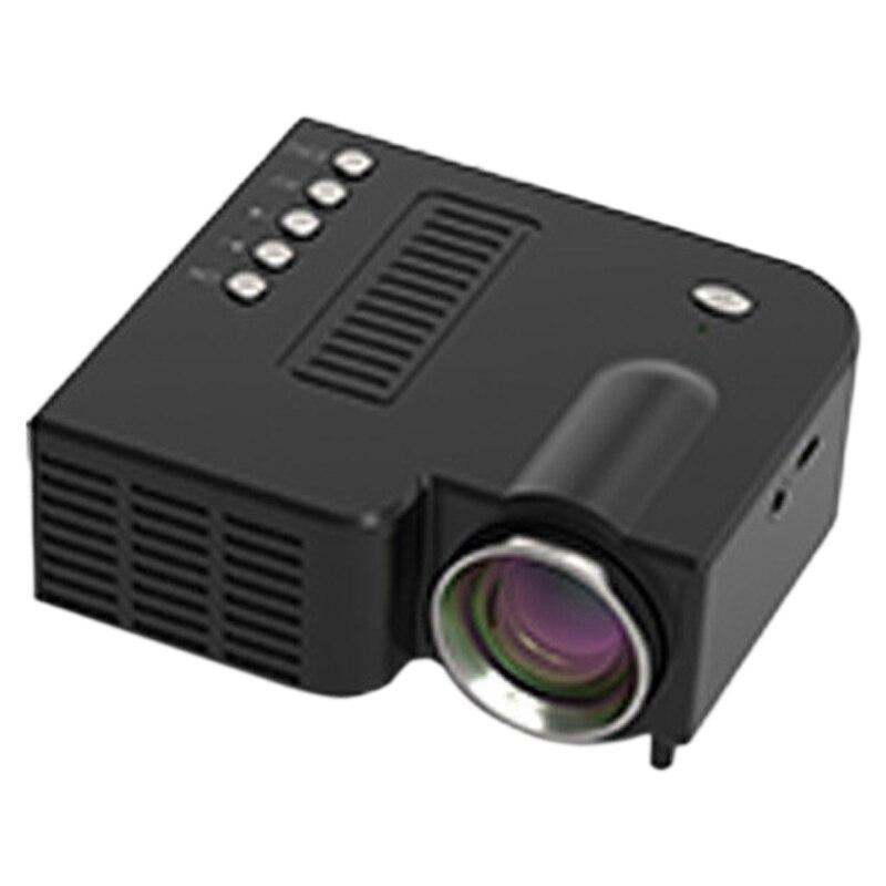 Mini proyector portátil UC28C, proyector LED casero para teléfono móvil para niños, compatible con 1080P