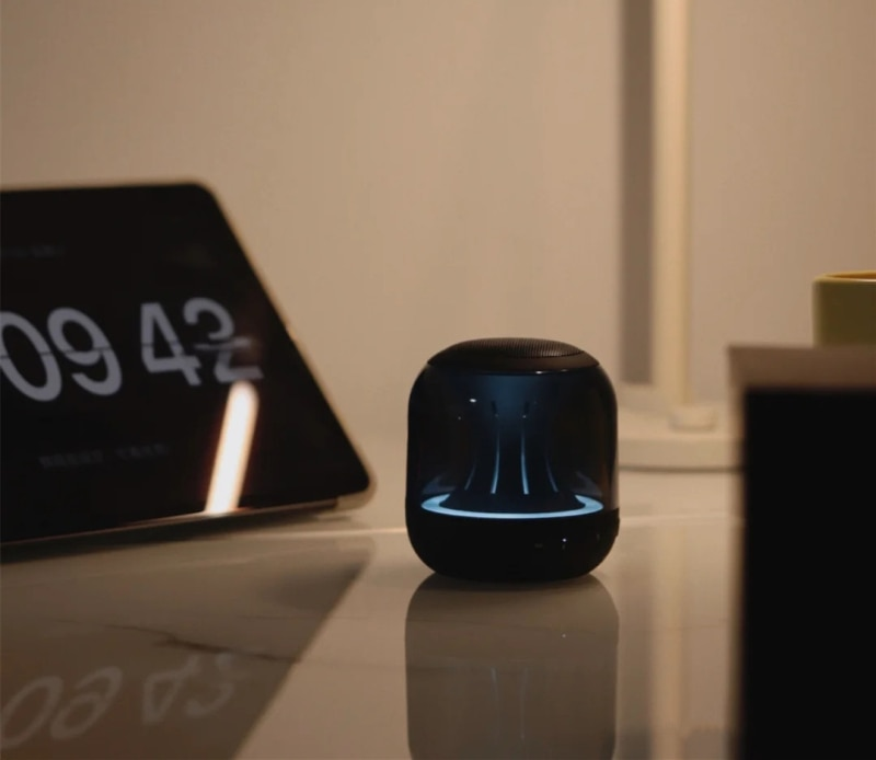 Allway PBT001 Bluetooth wireless speaker with colorful lights flashing portable mini home subwoofer enlarge