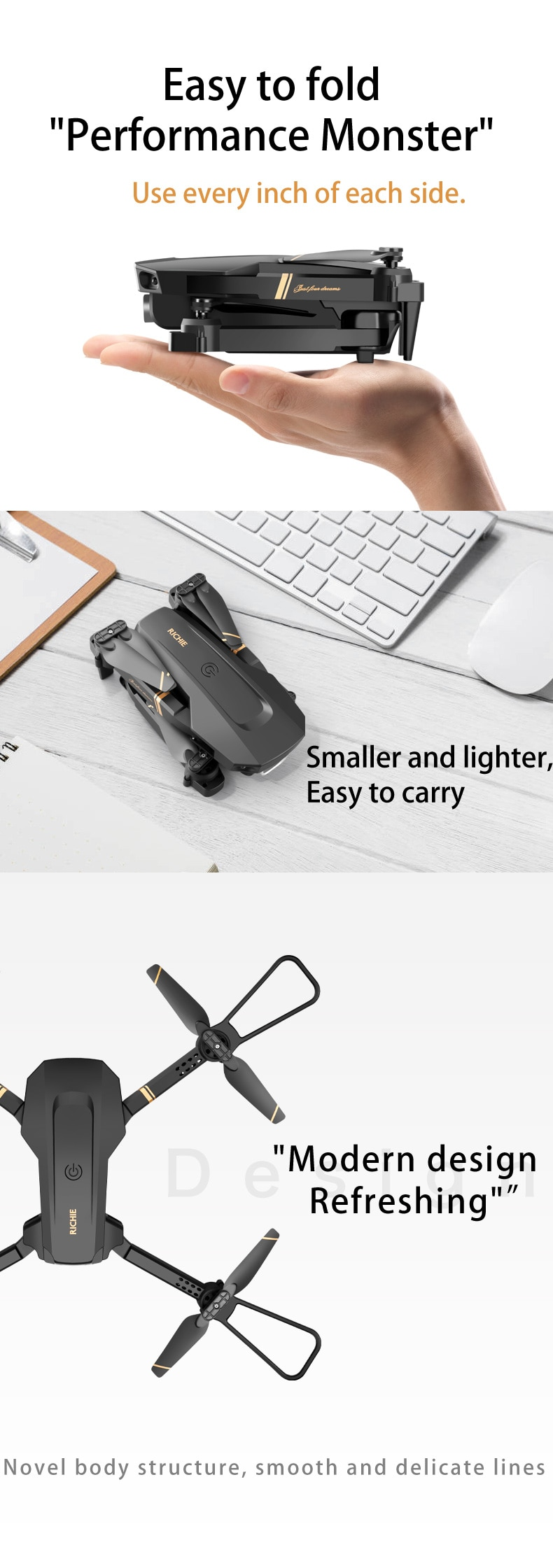 New Dual camera remote control aircraft aerial photography 4K HD professional cross-border folding quadcopter 4k drone fpv enlarge
