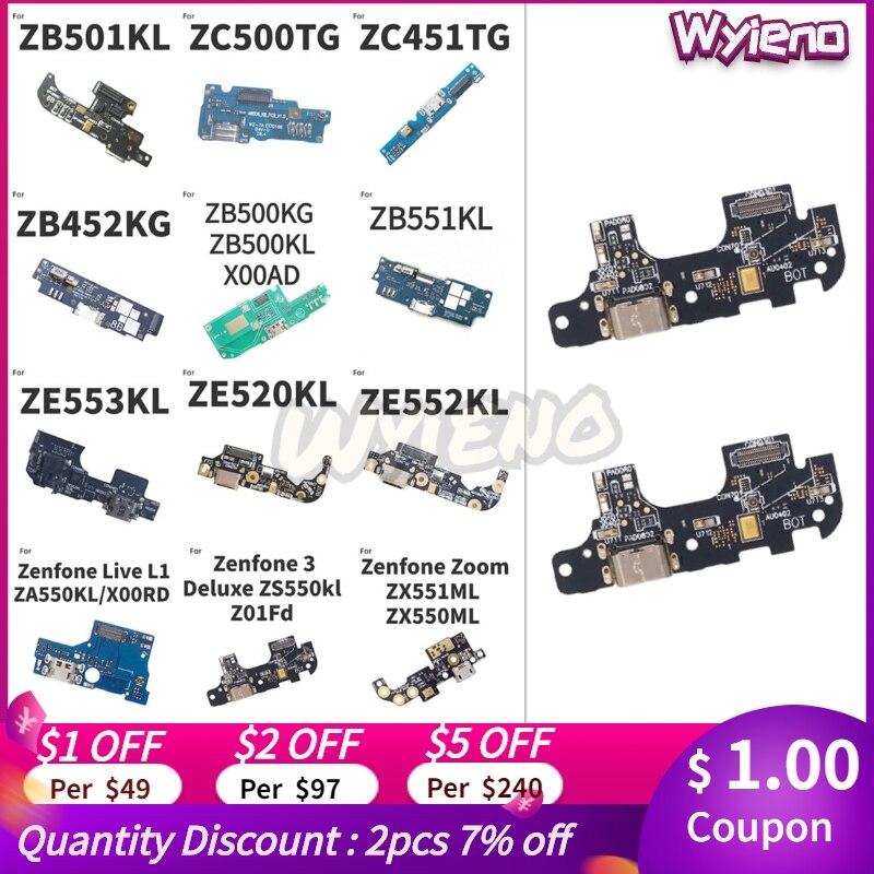 Для ASUS Zenfone Live L1 3 Zoom S Deluxe Go ZB500KL ZB452KG ZB501kl ZA550KL USB док-станция зарядное устройство Порт гибкий кабель микрофон плата