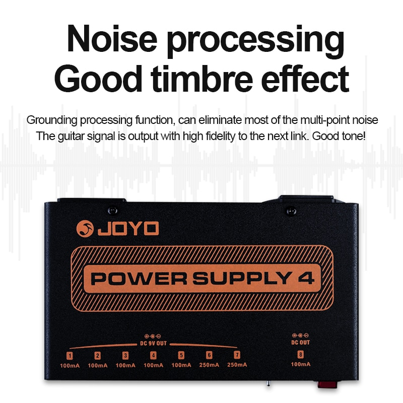 8 Pure Independent Outputs Effector Power Connection Can Power Dc9V,12V,18V Effector Guitar Effects Power Supply JOYO JP04 enlarge