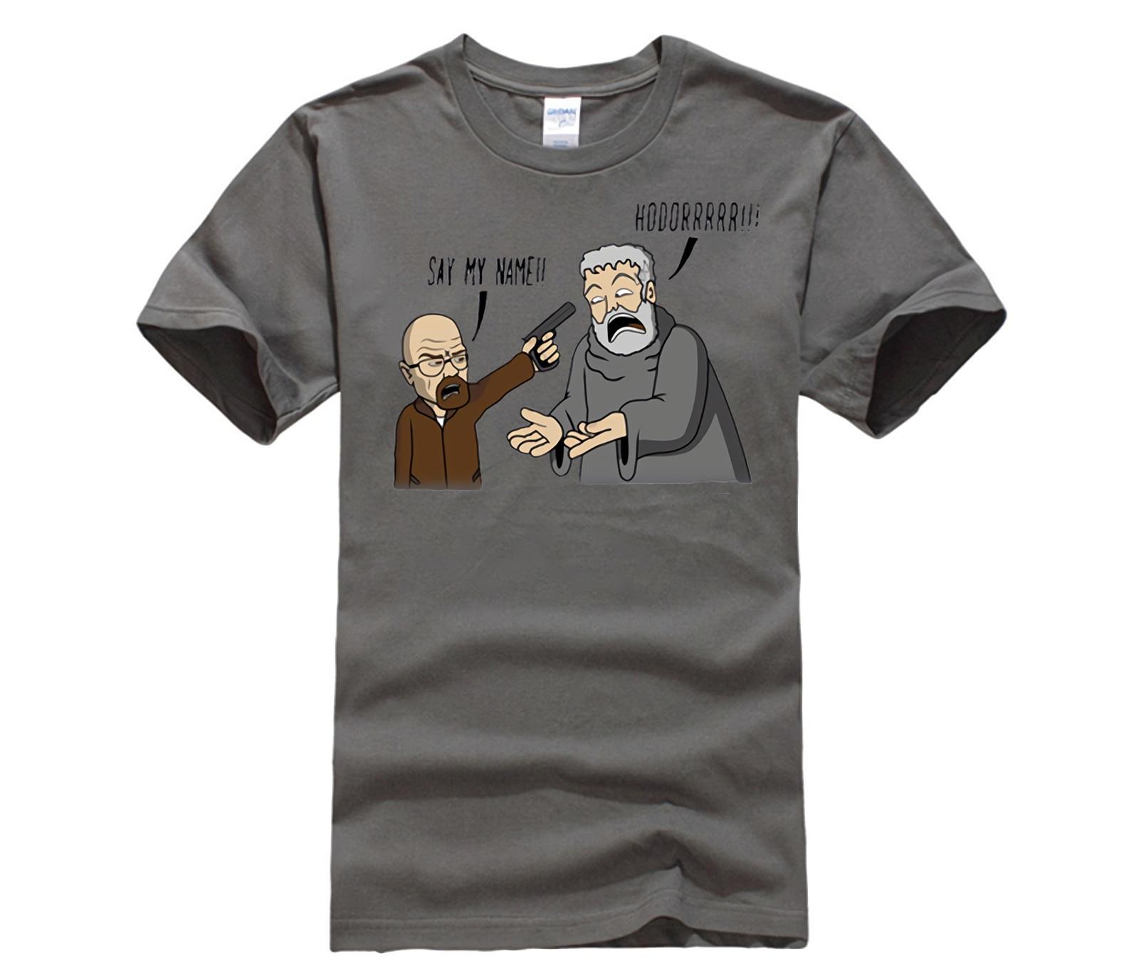 Alta qualidade popular Breaking Bad T-Shirt Hodor Game of Thrones homme dos homens Dos Ganhos tshirt