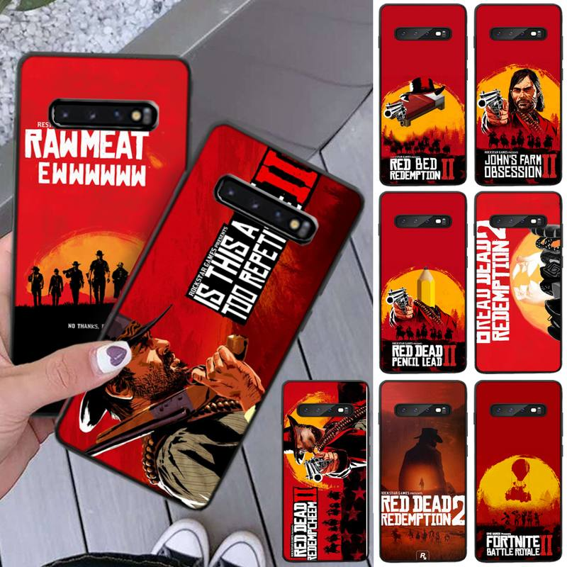 Red Dead Redemption Phone Case For Samsung Galaxy S7 S8 S9 S10e S20 PLUS Note 10 Pro PLUS LITE NOTE 20 UITRA Case Shell