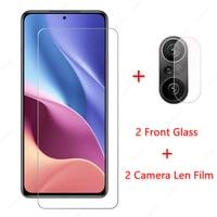 2 предмета в комплекте, для Xiaomi Poco F3 стекло для Xiaomi Poco F3 M3 Pro 5G F2 X3 GT Pro NFC защитная пленка протектор для экрана из закаленного стекла для объекти...