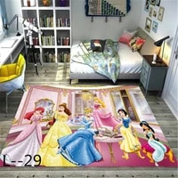 cartoon princess printing doormat flannel home decoration non slip floor mat carpet tapis de bain felpudo kids rug playmat
