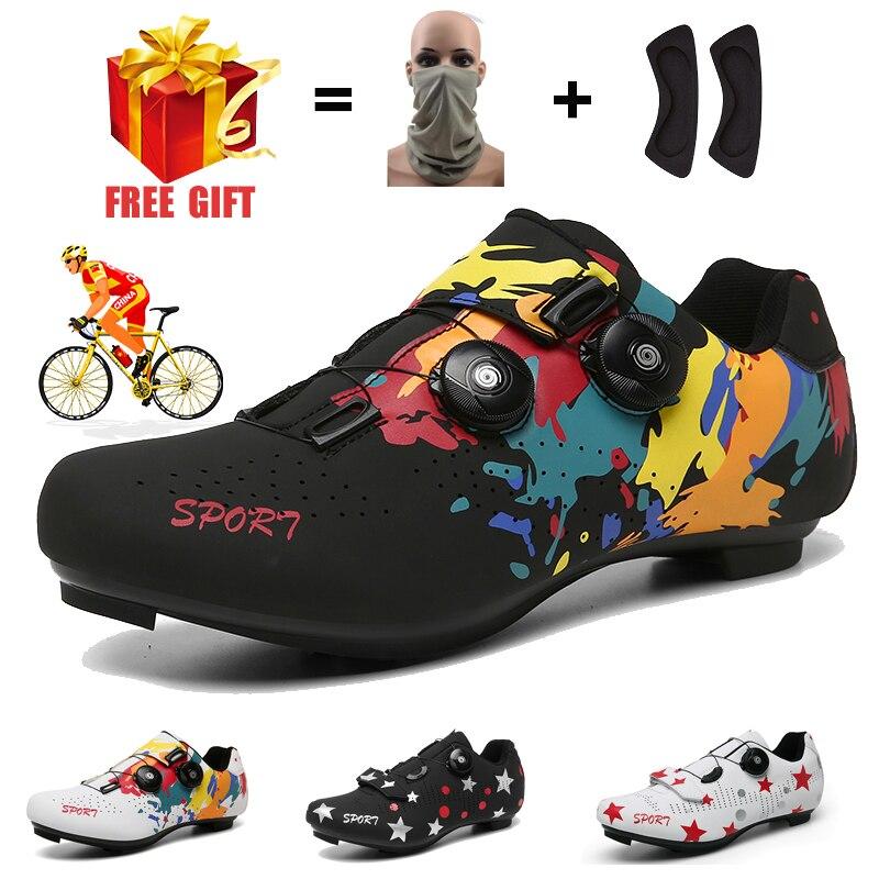 Zapatillas de ciclismo de montaña para hombre y mujer, zapatos de Ciclismo de resistencia con suela gruesa, para carreras SPD, para carretera, estilo libre, Invierno