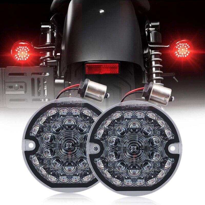 DHBH-задний светодиодный сигнал поворота плоский дымчатый объектив 1156 база ярко-красная лампа для мотоцикла дорога скольжение дорога смягча...
