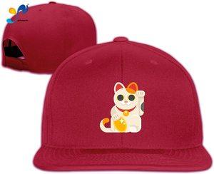Yellowpods Japanese Lucky Cat Men's Relaxed Medium Profile Adjustable Baseball Cap