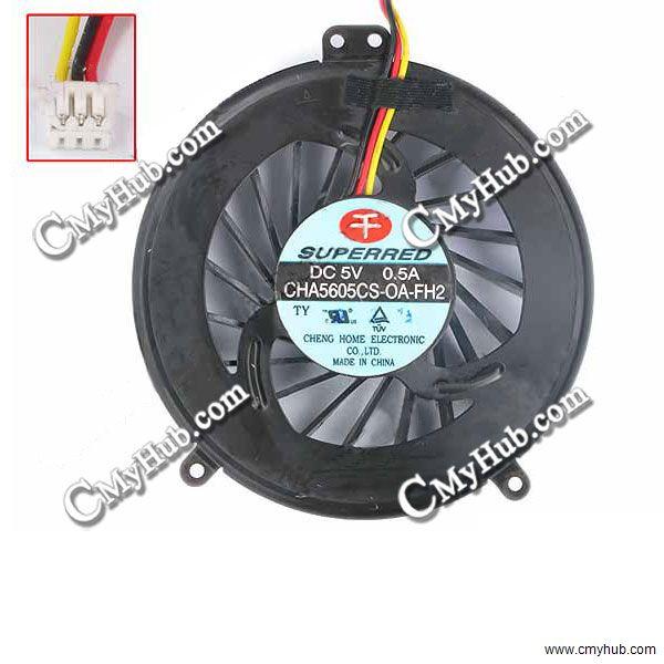 Nuevo para Fujitsu Lifebook A530 AH530 para Superred CHA5605CS-OA-FH2 DC 5V 0.5A 3 DE 3Pin ventilador de refrigeración de la CPU