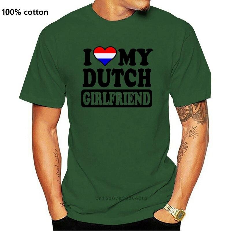 Забавная Новинка для мужчин голландский девушка Голландии Нидерланды Флаг шутка футболки подарки Новое поступление 2017 года мужские футболки топы, футболки Футболки      АлиЭкспресс